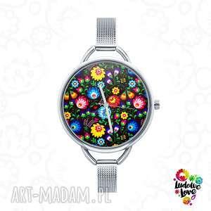 ludowelove zegarek z grafiką ludowy, folk, kwiaty, łowickie, łowicz, etniczne