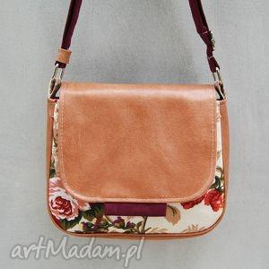 Bambi - mała torebka kwiaty i beż mini incat mała, wygodna