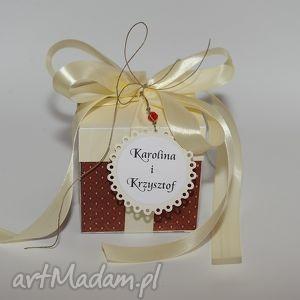 handmade kartka pudełko na ślub