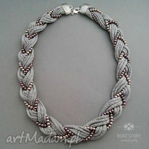 Helena naszyjniki bead story bawełna, sznurek, perły, warkocz