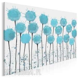 obraz na płótnie - kwiaty błękitny - 120x80 cm (65801)