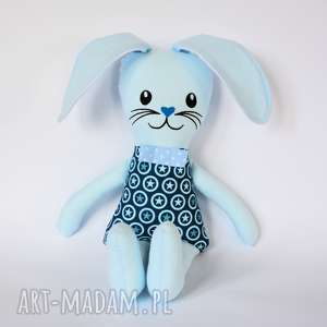 maskotki zając kicak - tomek haft 45 cm, królik, zając, maskotka, chłopczyk