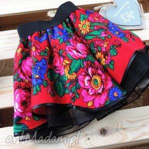 ubranka spódniczka folkowa cleo góralska 1-3 lata z chusty, spódniczka, cleo, folk