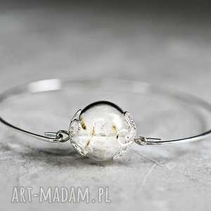 ♥ dmuchawiec ♥ posrebrzana bransoletka - białe bransoletki