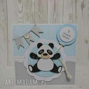 zaproszenie kartka pandokracja - panda, zaproszenie, urodziny, chrzest, narodziny, sesja