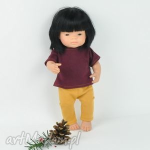 ubranka dla Minialnd, legginsy t-shirt, lalki,