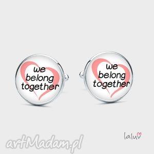 spinki do mankietów we belong together - miłość, ślub, wesele, napis