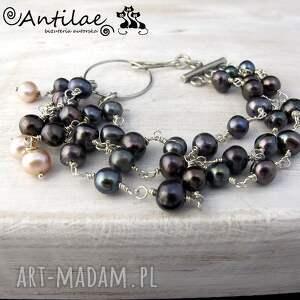 Banyak - Perły słodkowodne, srebro, bransoletka, perły