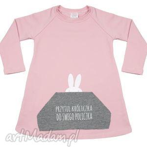 Tunika różowa dla dziewczynki A kuku, tunik, sukienka, diverso