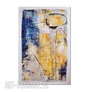 grot, abstrakcja, nowoczesny obraz ręcznie malowany, obraz, ręcznie, malowany