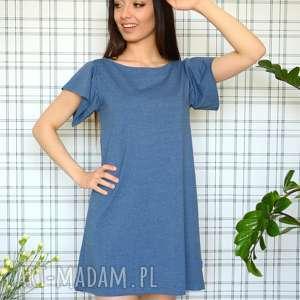 ręcznie robione sukienki sukienka romantic s/m/l/xl jeansowy