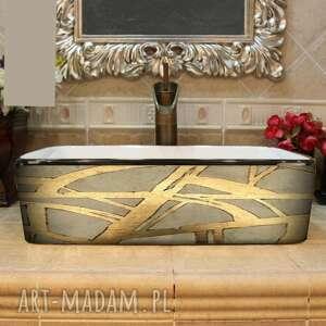 dorada - artystyczna umywalka nablatowa ze strukturą