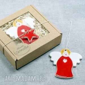 dekoracje aniołek zawieszka, aniołek, zawieszka świąteczna