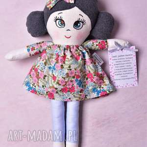hand-made lalki lalka szmacianka aurelia (opis pudełko)