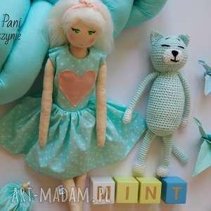 szyje pani lalka #105, bawełniana, szmacianka, tilda, przytulanka, blondynka