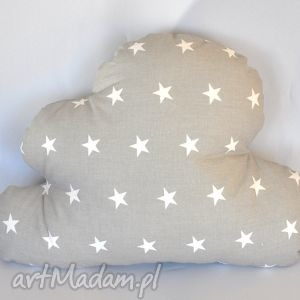 poduszka chmurka piękna ozdoba prezent, poduszka, chmurka, gwiazdki