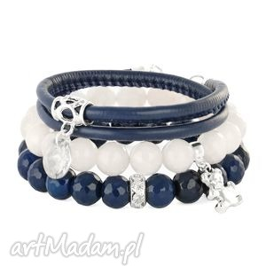 navy blue & moon set - kwarc agat