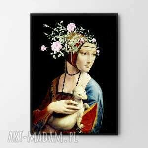 plakat obraz nowoczesna dama a2 - 42x59 4cm, ozdoba, prezenty, święta
