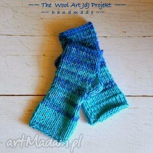 rękawiczki mitenki - rękawiczki, mitenki, niebieskie, nadłonie