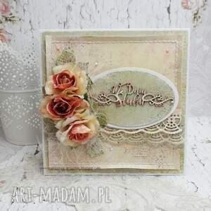 w dniu ślubu- kartka w pudełku - ślub, pudełko na ślub, prezent na
