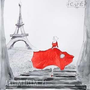 paryski luz akwarela artystki plastyka adriany laube - paryż, francja, francuski