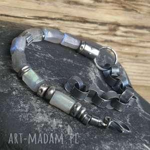 hand-made bransoletki bransoletka srebrna z labradorytami