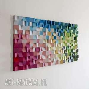 mozaika drewniana, obraz drewniany 3d dyfuzja_2, dyfuzja, 3d, kolor, wallart