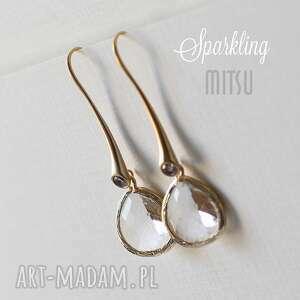 Sparkling, ślubne, wieczorowe, eleganckie, kryształ, pozłacene, oryginalne