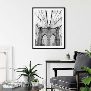 plakaty plakat skandynawski brooklyn bridge, plakat, nowy jork, bridge