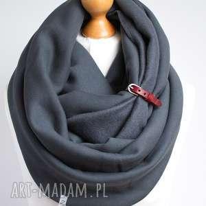 Prezent ZIMOWY komin dresowy z paskiem, prezent dla niej, bawełna, gruby, zimowy