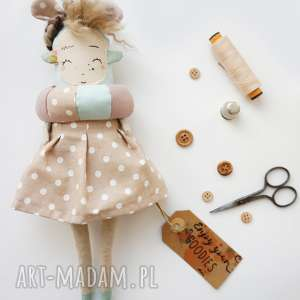 Prezent Monsterówna Roma- lalka z tkanin/ handmade/ zabawka, różowy, lalka, zabawka