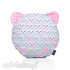 ręcznie robione dla dziecka poduszka podusia miś kotki / róż