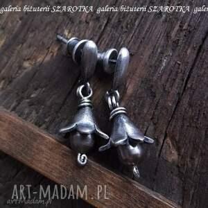 leśne dzwonki kolczyki z naturalnych pereł i srebra, perła, naturalna, słodkowodna