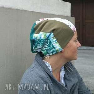 Czapka damska szyta patchworkowo handmade czapki ruda klara
