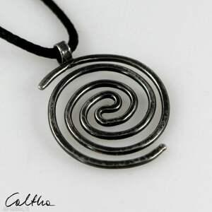wisiorki spirala - srebrny wisiorek 2109-22, wisiorek, prosty naszyjnik