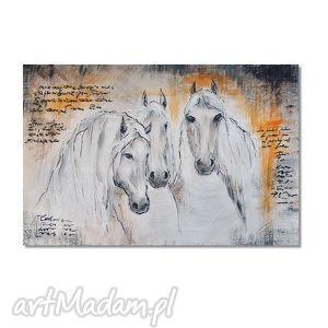 konie, nowoczesny obraz ręcznie malowany, obraz, ręcznie, malowany obrazy dom
