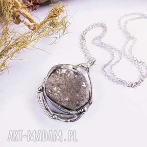 druza w oplocie, druza, kamień-naturalny, kwarc, błyszczące, minerał, elegancki, pod