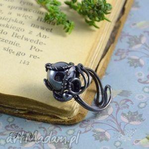 hand made pierścionki mars - pierścionek z hematytem
