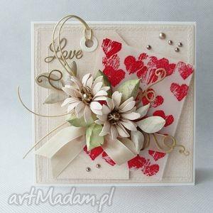 scrapbooking kartki czerwone serca, serce, walentynka, miłość, ślub