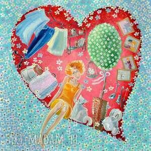 obraz pt teraz już jestem w twoim sercu na zawsze, serce, obraz, kobieta