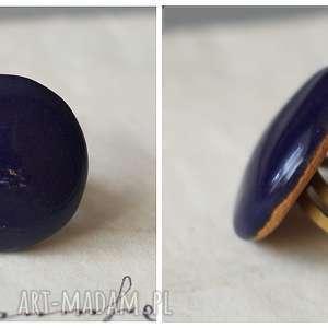Pierścionek ceramiczny granatowy, ceramika, pierścionek