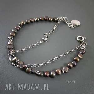 delikatna z pereł bransoletka, perła, srebro, bransoletka bransoletki