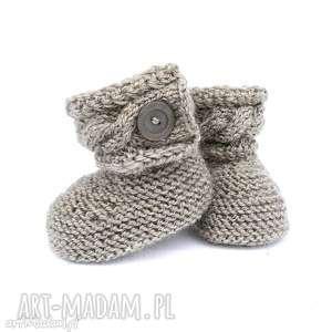 zamówienie p magdy, buciki, wełniane, ciepłe, dziecko, niemowlę, kozaczki