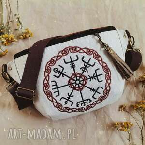 nerka xxl vegvisir, nerka, wikingowie, kompas, haft len, zapętlona