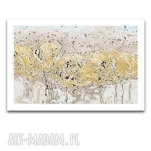 obraz na płótnie wiosenna abstrakcja z marginesem 150x90, jasne, wiosenne