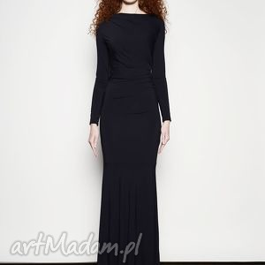 Suknia milli maxi - black sukienki milita nikonorov długa