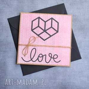 love geometryczne serce róż granat, ślub, ślubna, walentynki, walentynkowa