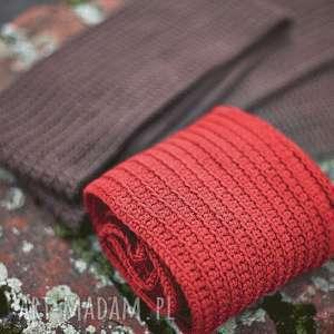szal bawełniany wykonany ręcznie - szal, szalik, bawełna, wiosna, prezent