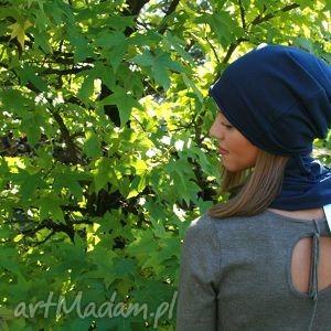 Jesienna czapka z grubej dzianiny , czapka, czapki, dodrosły, dorosła, smerfetka