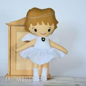 aniołek biały 35 cm, anioł, lalka, chrzciny, roczek, komunia, gwiazdka